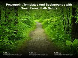Powerpoint Templates And Backgrounds With Green Forest Path Nature