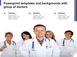 Powerpoint Templates And Backgrounds With Group Of Doctors