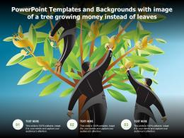 Powerpoint Templates And Backgrounds With Image Of A Tree Growing Money Instead Of Leaves