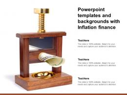 Powerpoint Templates And Backgrounds With Inflation Finance