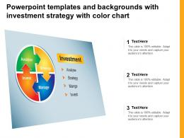 Powerpoint Templates And Backgrounds With Investment Strategy With Color Chart