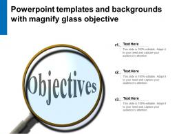 Powerpoint Templates And Backgrounds With Magnify Glass Objective