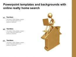 Powerpoint Templates And Backgrounds With Online Realty Home Search