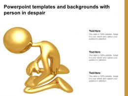 Powerpoint Templates And Backgrounds With Person In Despair