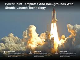 Powerpoint Templates And Backgrounds With Shuttle Launch Technology