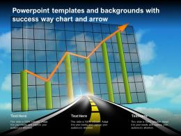 Powerpoint Templates And Backgrounds With Success Way Chart And Arrow
