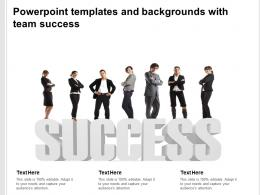 Powerpoint Templates And Backgrounds With Team Success