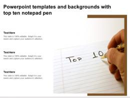 Powerpoint Templates And Backgrounds With Top Ten Notepad Pen