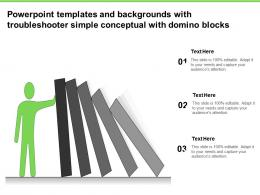 Powerpoint Templates And Backgrounds With Troubleshooter Simple Conceptual With Domino Blocks