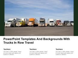 Powerpoint Templates And Backgrounds With Trucks In Row Travel