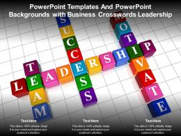 Powerpoint Templates And Powerpoint Backgrounds With Business Crosswords Leadership
