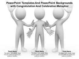Powerpoint Templates And Powerpoint Backgrounds With Congratulation And Celebration Metaphor