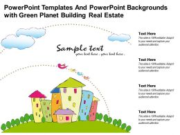 Powerpoint Templates And Powerpoint Backgrounds With Green Planet Building Real Estate