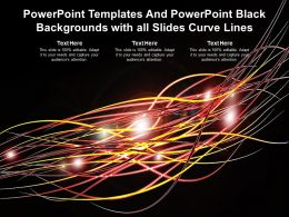 Powerpoint Templates And Powerpoint Black Backgrounds With All Slides Curve Lines