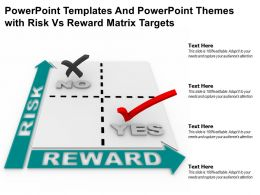 Powerpoint Templates And Powerpoint Themes With Risk Vs Reward Matrix Targets