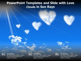 Powerpoint Templates And Slide With Love Clouds In Sun Rays