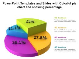 Powerpoint Templates And Slides With Colorful Pie Chart And Showing Percentage