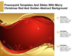 Powerpoint Templates And Slides With Merry Christmas Red And Golden Abstract Background