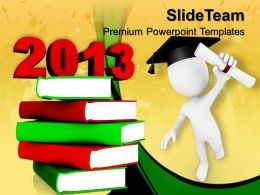 powerpoint_templates_download_education_2013_books_new_year_ppt_slides_Slide01