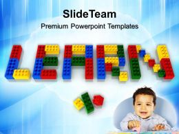 Powerpoint Templates Education Theme With Lego Blocks Game Ppt Slides