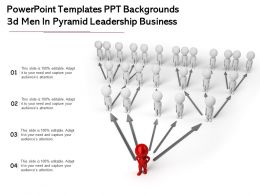 Powerpoint Templates Ppt Backgrounds 3d Men In Pyramid Leadership Business