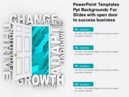 Powerpoint Templates Ppt Backgrounds For Slides With Open Door To Success Business