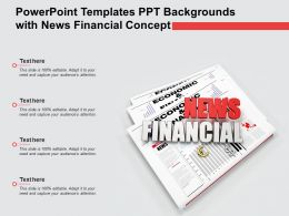 Powerpoint Templates Ppt Backgrounds With News Financial Concept