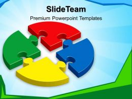 Powerpoint Templates Puzzle Pieces Circular Business Ppt Backgrounds
