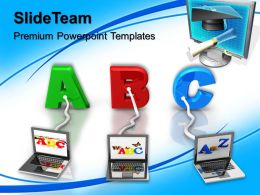Powerpoint Templates Training Multiple Wired To Abc Education Leadership Ppt Slide