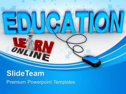 Powerpoint Templates Training Online Education Chart Ppt Presentation