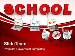 Powerpoint Templates Training Wired To School Children Teamwork Ppt Backgrounds