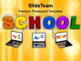 Powerpoint Templates Training Wired To School Education Success Ppt Slide Designs