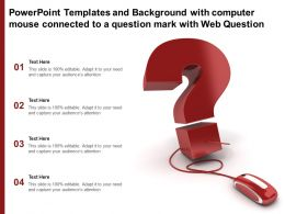 Powerpoint Templates With Computer Mouse Connected To A Question Mark With Web Question