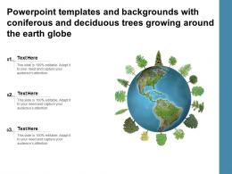 Powerpoint Templates With Coniferous And Deciduous Trees Growing Around The Earth Globe