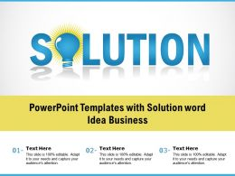 Powerpoint Templates With Solution Word Idea Business