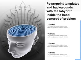 Powerpoint Templates With The Labyrinth Inside The Head Concept Of Problem