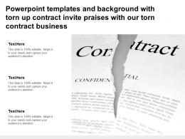 Powerpoint Templates With Torn Up Contract Invite Praises With Our Torn Contract Business