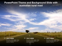 Powerpoint Theme And Background Slide With Australian Rural Road