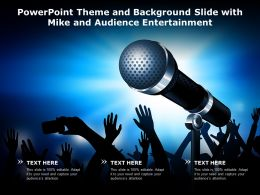 Powerpoint Theme And Background Slide With Mike And Audience Entertainment