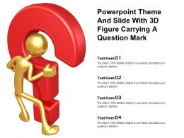 Powerpoint Theme And Slide With 3d Figure Carrying A Question Mark