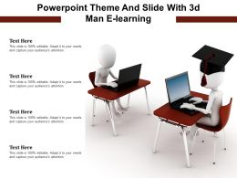 Powerpoint Theme And Slide With 3d Man E Learning