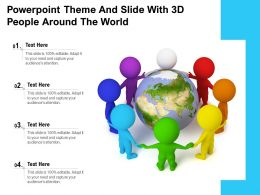 Powerpoint Theme And Slide With 3d People Around The World