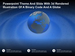Powerpoint Theme And Slide With 3d Rendered Illustration Of A Binary Code And A Globe