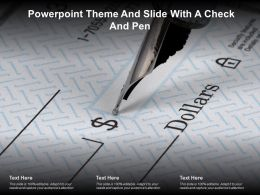 Powerpoint Theme And Slide With A Check And Pen