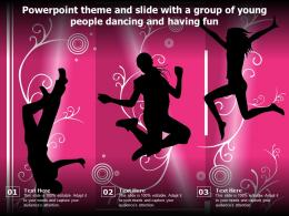 Powerpoint Theme And Slide With A Group Of Young People Dancing And Having Fun