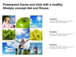 Powerpoint Theme And Slide With A Healthy Lifestyle Concept Diet And Fitness