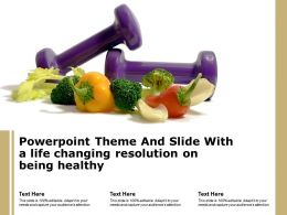Powerpoint Theme And Slide With A Life Changing Resolution On Being Healthy