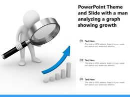 Powerpoint Theme And Slide With A Man Analyzing A Graph Showing Growth