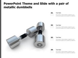 Powerpoint Theme And Slide With A Pair Of Metallic Dumbbells