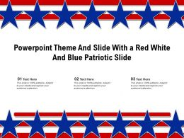 Powerpoint Theme And Slide With A Red White And Blue Patriotic Slide